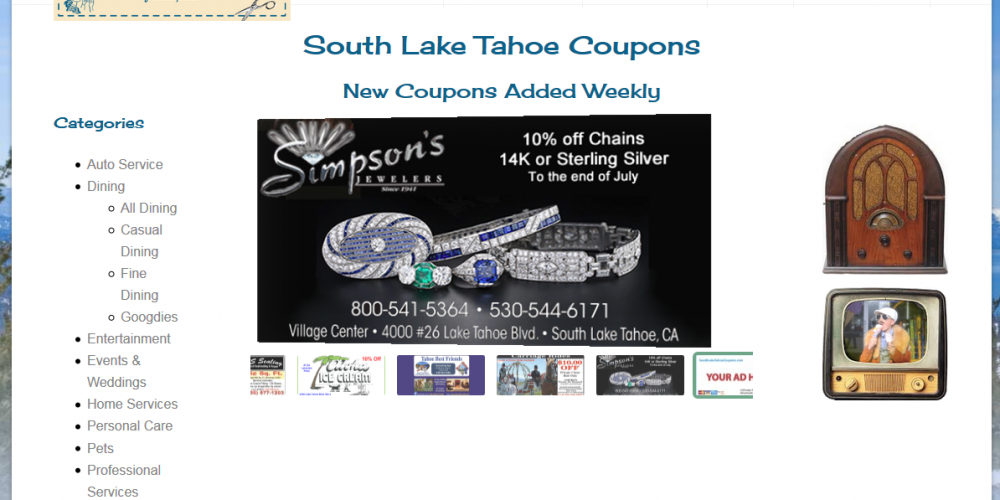 South Lake Tahoe Coupons