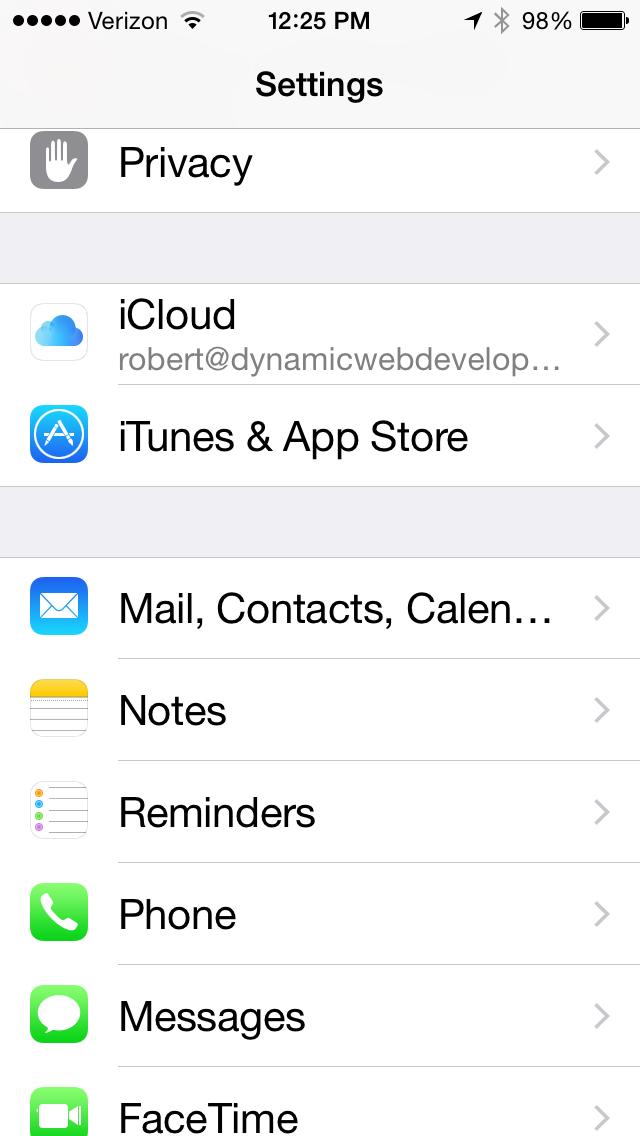 Email Setup 1